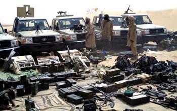 smuggling weapons through Algeria