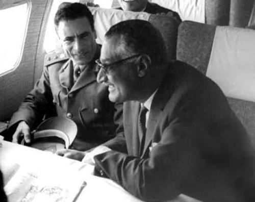 nasser_and_gaddafi_haykal_plane_Dec1970