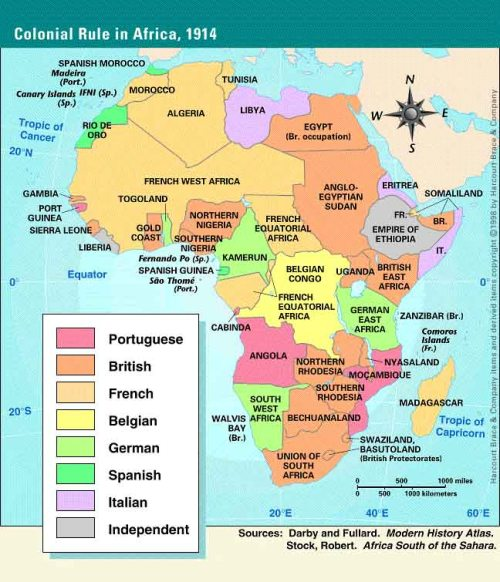 map of Africa 1914