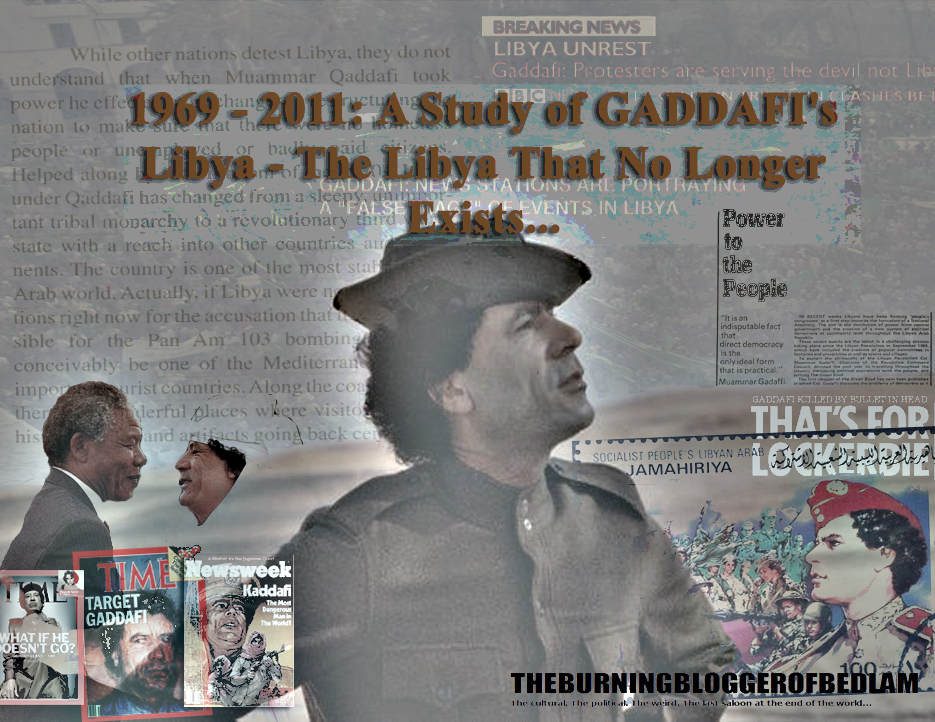 Goodbye Kadhafi You Asshole